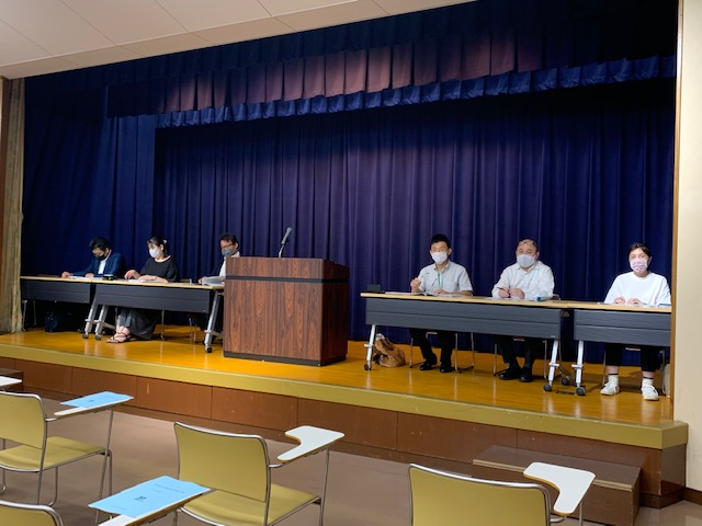 市P協 新旧理事会(総会)を開催しました。